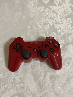 Original Sony dualshock 3 OEM Playstation 3 Wireless Controller PS3 Red tested