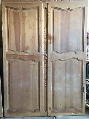 Vintage French Style Wood Murphy Bed Door Architectural Salvage 61.5 X 87