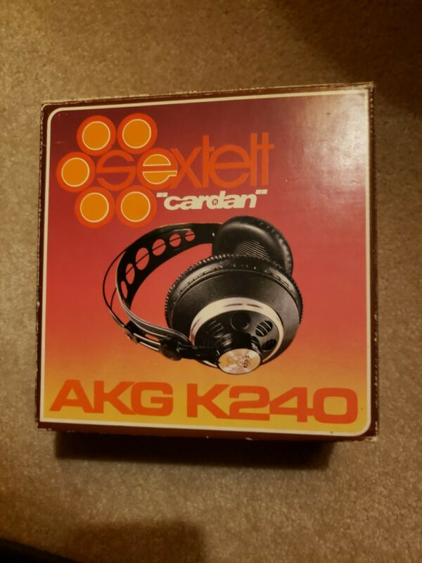 Vintage AKG K240 Sextett Cardan Headphones Black Over Ear w/Box