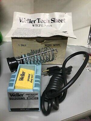 Vtg Weller Model Wtcpl Controlled Output Soldering Station W-tcp-l Nos No Pencil