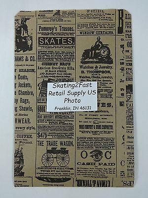 6.25 X 9.25 Newsprint Design Paper Merchandise Bag Retail Shopping