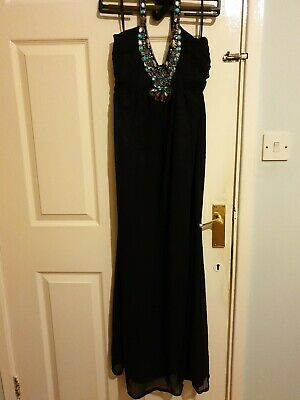 Floor Length Petite Black Halter Neck Beaded Gown for sale  Shipping to Nigeria