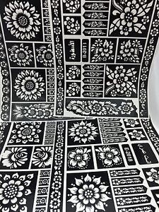 Henna Stencil Mehndi Stencils Arabic/Indian Style Pack Of 4 Pages  Large Size