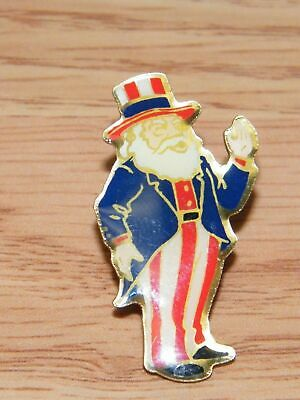Enamel Uncle Sam Collectible Costume Fashion Jewelry Brooch / Pin **READ** - Female Uncle Sam Costume