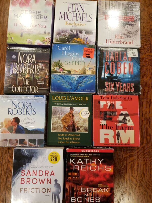 LOT OF 11 VARIOUS AUDIO CD BOOKS