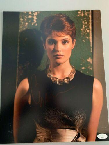James Bond Solace Gemma Arterton Autographed Signed 11x14 Photo JSA COA