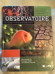 Observatoire l'environnement Manuel de l'élève 2e année