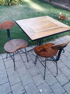 JahRoc, Jahroc, Jah roc outdoor setting, 2 chairs. Wood and iron Glen Forrest Mundaring Area Preview