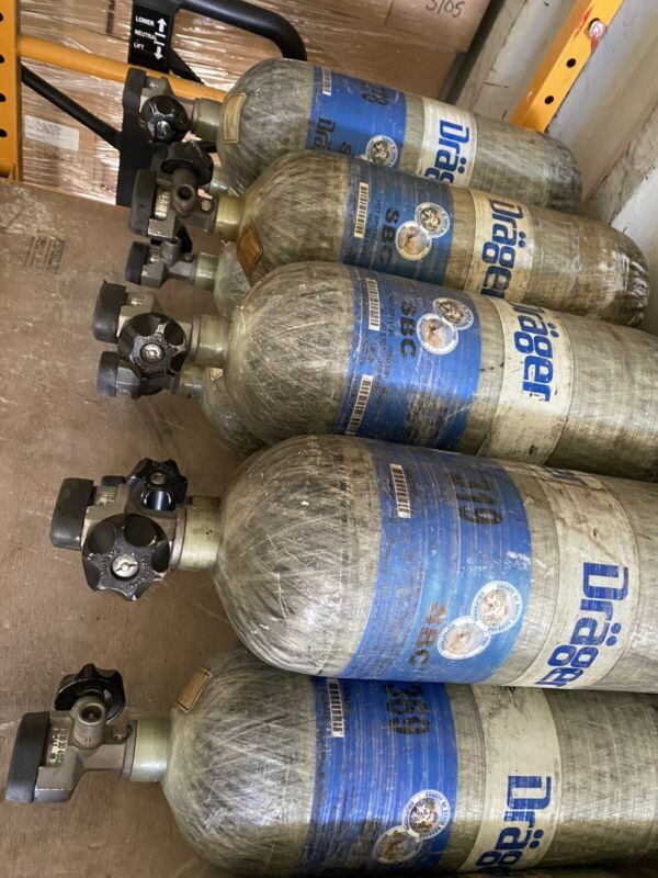 Drager 4500psi SCBA Tank 45 minute Carbon Wrapped 2009 MFG