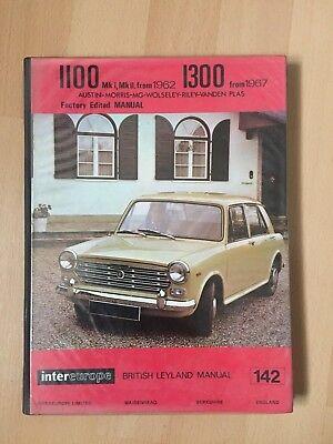 Intereurope Workshop Manual Austin Morris MG Wolseley Riley 1100 & 1300