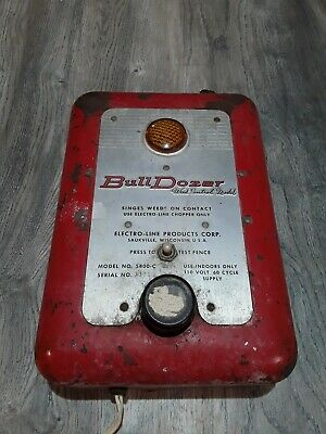 Vintage Electro-line Bull Dozer Model 5400-c Electric Fence Charger Weed Control