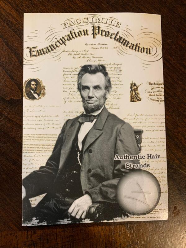 Abraham Lincoln Hair Strand Lock Piece Speck President Relic POTUS US Display