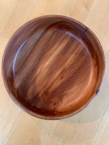 """Rose Wood Bowl, 9"""" top Diameter"""