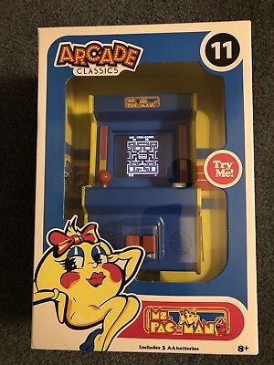 Mini Arcade Classics Ms. Pac-Man #11 Retro Gaming New Wreck It Ralph Rampage
