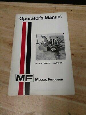 Original Oem Massey Ferguson Garden Tractor Mf 620 Snow Thrower Operators Manual