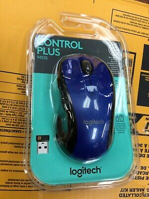 Logitech Control Plus M510 Blue Mouse nib