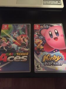 Mario Tennis Aces + Kirby Star Allies on switch 75$ for both