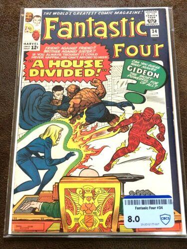 Fantastic Four #34, CBCS (not CGC) Raw Grade 8.0 (VF), Nice Copy!
