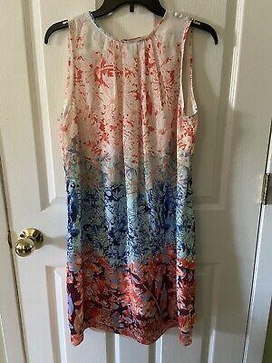 H&M Floral Print V Back Slip Sleeveless Midi Dress Size 10 NWT