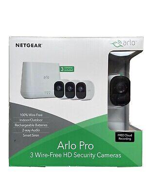 Netgear Arlo Pro VMS4330 Wireless Security System Kit + Smart Siren HD 3 Cameras