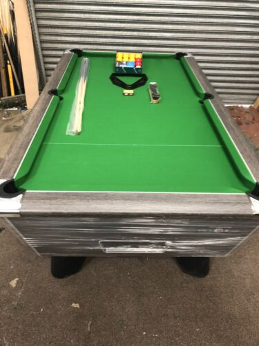 6FT BY 3FT NEW SUPREME WINNER  RUSTIC FREEPLAY POOL TABLE CAN DELIVER