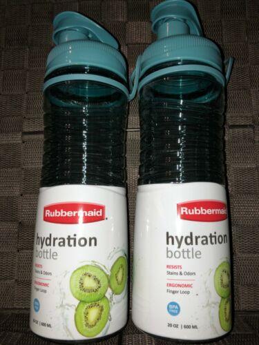 Rubbermaid BPA FREE Hydration Chug Style 20 oz. Bottle BLUE 2 Pack