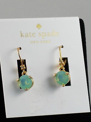 Kate Spade Gold Pacific Blue Opalescent Rise And Shine Round Drop Earrings  48