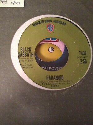 Black Sabbath, Paranoid ~ 1970 Warner Bros. 45 +sleeve