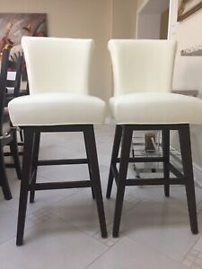 Leather high chairs