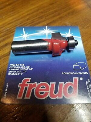 Freud 34-119 316 Inch Radius Rounding Over Router Bit - 12 Shank