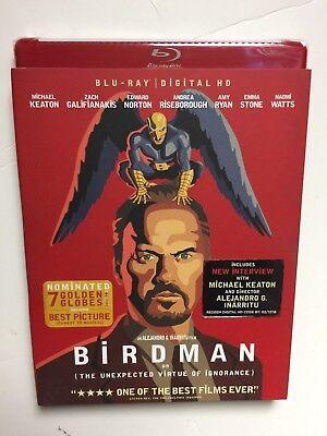 Birdman (Blu-ray Disc, 2015) NEW w/slipcover + Red Case