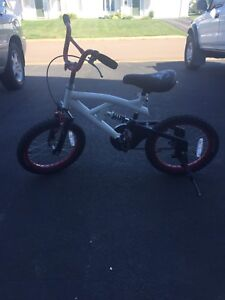 Boys 16inch bike with suspension