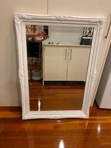 Large Chic White Mirror From Victor Scott