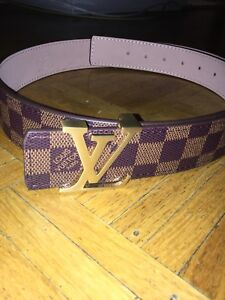 100% Authentic Brown Louis Vuitton Belt with Gold buckle