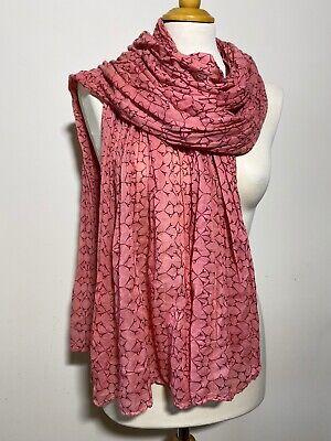 Usado, Becksondergaard Cotton Pink Eiffel Tower Print Scarf comprar usado  Enviando para Brazil