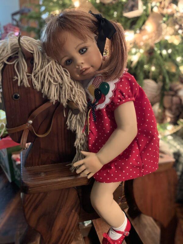 """MONIKA LEVENIG Large Realistic Sitting Toddler DOLL Approximately 37"""" 2003"""