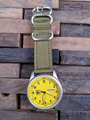 Minuteman A11 American Field Watch Yellow Dial Powered by Ameriquartz