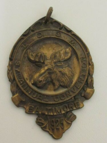 Antique Fraternal Loyal Order of Moose 37th Convention Baltimore 1925 Pendant