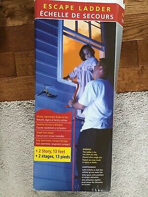 NEW Kidde 468093 KL-2S Two-Story Fire Escape Ladder with Anti-Slip Rungs 13-Foot