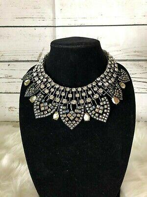 Zara Glass Stone Collar Necklace **NWT**