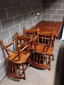 Used wooden dining table and chairs(6) Marrickville Marrickville Area Preview