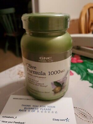 Gnc Olive formula 1000MG Fruit an Leaf Extracts 90 Caplets Best By-11/19