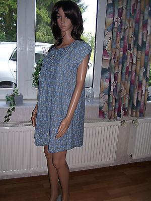 Roxy Minikleid Sommerkleid Marine Blue Kleid blau mit Taschen Grösse M neu