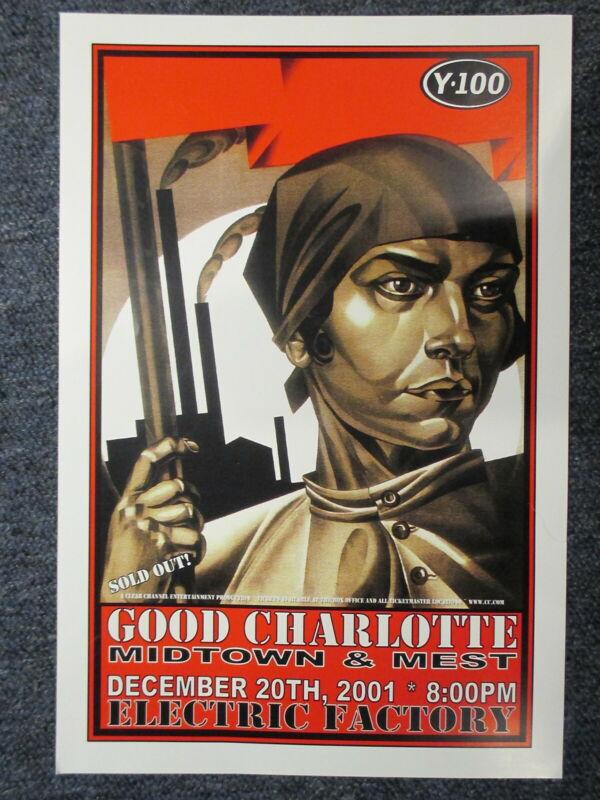 Good Charlotte Concert Poster Philadelphia December 20th, 01 11 X 17 ORIGINAL !