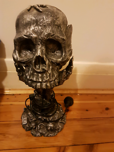 skull lamp in pewter colour Maroubra Eastern Suburbs Preview