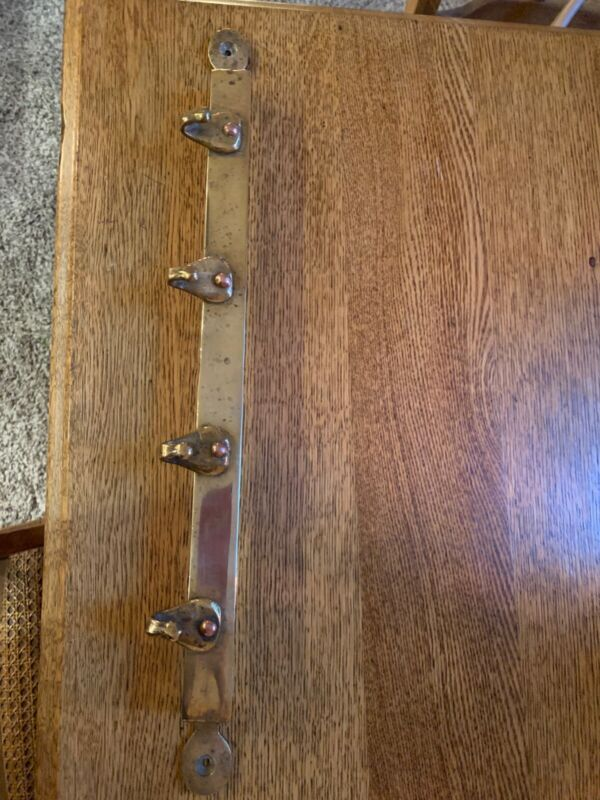 Antique Hand Forged Brass Coat Rack