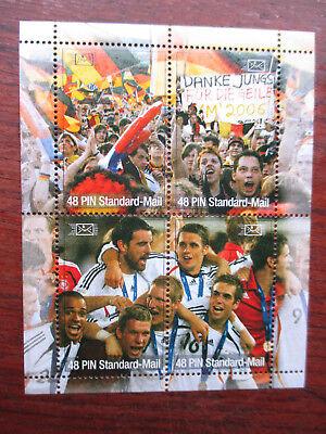 """Private Post PIN Mail """"Fussball 2006"""" 4er Block"""" postfrisch"""