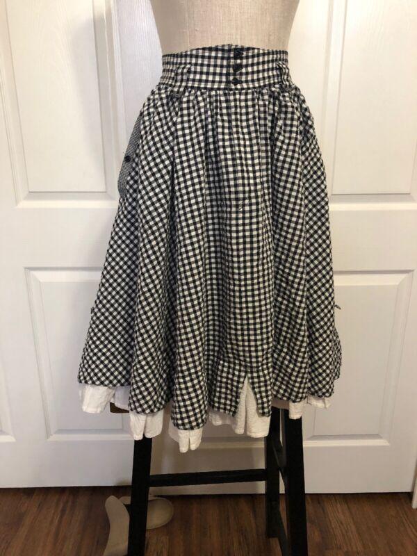 Vtg. B & W Check Square Dancing Skirt Size 6