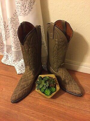 ACME/Circle A Tan/Black Cowboy Western Boots Men's SIZE 8D