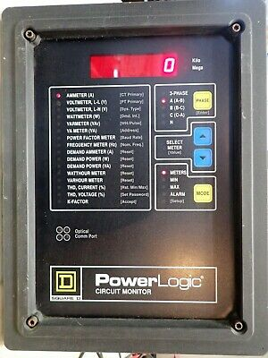 Square D Power Logic Circuit Monitor 3020cm2050 Rs-485 3 Phase